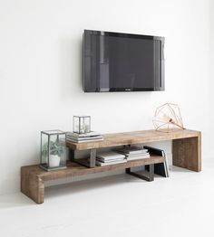 TV stand, 2 shelves, extendable-6