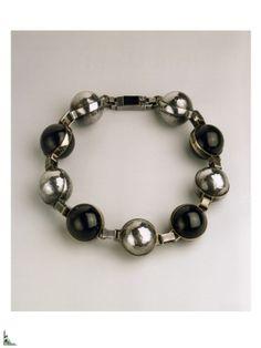 Bracelet Jean Després _ Onyx et argent