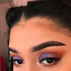 "Purple Eyeshadow Makeup Look History of eye makeup ""Eye care"", put simply, ""eye make-up"" has Makeup Eye Looks, Cute Makeup, Pretty Makeup, Skin Makeup, Eyeshadow Makeup, Eyeshadows, Awesome Makeup, Eyeshadow Ideas, Eyebrow Makeup"