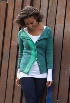 partition cardigan ann weaver - LOVE the stripe!
