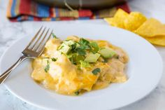 White+Chicken+Enchilada+Skillet+Recipe