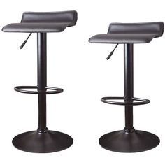 Adeco Low-back Hydraulic Lift Adjustable Bar Stool Set (¥10,985) ❤ liked on Polyvore featuring home, furniture, stools, barstools, black, adjustable height counter stools, black counter stools, low back bar stools, black colored stool and low back counter height stools