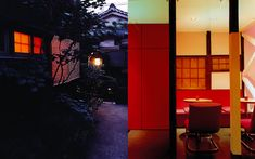 We are a global and creative design studio in Geneva, Tokyo and Beijing. Wood Planks, Wooden Flooring, Orange Store, Red Bench, Interior Architecture, Interior Design, Red Chairs, Red Cushions, Red Walls