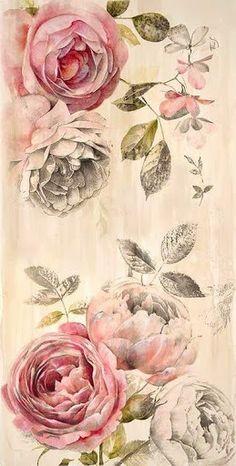 New Flowers Peonies Tattoo Floral Ideas Vintage Rosen, Vintage Diy, Decoupage, Peonies Tattoo, Tattoo Flowers, Tattoo Floral, Flower Tat, Images Vintage, Vintage Flowers