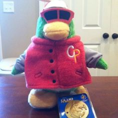 Club Penguin Online Rookie Plush New With Tag & Coin
