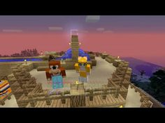 Stampy and L for Leeee watching sunrise