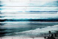 """Banda"" Wall Art on Wood, 60""x40"" beach-style-fine-art-prints"