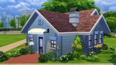 Totally Sims: Sunflower Cottage • Sims 4 Downloads  Check more at http://sims4downloads.net/totally-sims-sunflower-cottage/
