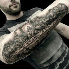 Last Supper tattoo