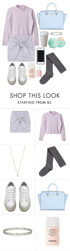 """Casual pastels"" by tilly-bailey ❤ liked on Polyvore featuring Kate Spade Saturday, Minor Obsessions, H&M, Acne Studios, MICHAEL Michael Kors, Marc by Marc Jacobs, Chanel, Eos and Essie"