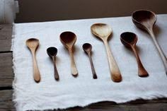 wooden spoons in the kitchen