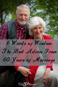 What would it be like to love, laugh, and live together for six decades? 6 Words of Wisdom: The best Advice From 60 Years of Marriage Godly Marriage, Marriage And Family, Marriage Relationship, Happy Marriage, Best Marriage Advice, Strong Marriage, Relationships, Good Wife, Husband Wife