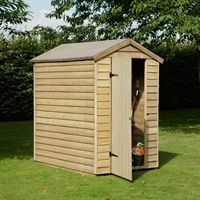 the pressure treated overlap security wooden shed has no windows making it perfect for storing garden tools out of sight 15 year guarantee