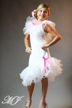Frilly White Girls Princess Dress