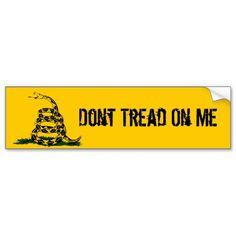 Dont Tread On MeGadsden Bumper Sticker