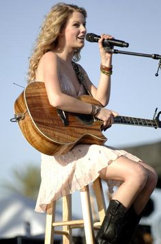 Taylor Swift performs as part of the Stagecoach Music Festival at the Empire Polo Fields on May 3 2008 in Indio California