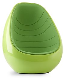 The Koop chair provides its user with visual privacy in modern activity based offices.  The massive Koop chair offers sheltered, attractive seating and has a concealed swivel base.  The inviting and intensive look of the chair is the result of the combination of its painted fibreglass structure and soft upholstered interior. The curved, sculptural chair can be used alone or in groups.