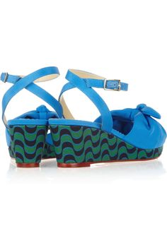 Charlotte Olympia|Alexa crepe de chine wedge sandals|NET-A-PORTER.COM