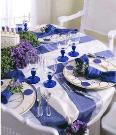 Hanukkah Celebration Table Setting #bicmarkit