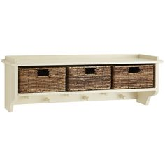 Holtom Wall Shelf - Antique White | Pier 1 Imports
