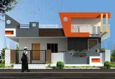 House Porch Design, Single Floor House Design, Village House Design, House With Porch, Small House Design, Modern House Design, Front Elevation Designs, House Elevation, Building Design