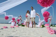 lockere Hochzeit am Strand
