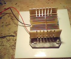 Thermoelectric generator (Heat to Electrical power) instructions Electrical Projects, Solar Projects, Energy Projects, Electrical Engineering, Chemical Engineering, Electrical Wiring, Diy Projects, Solar Powered Generator, Power Generator