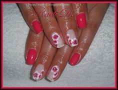 Nailpolis Museum of Nail Art | Coral gel polish with Flowers by Radi Dimitrova