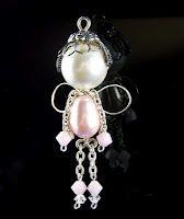 My Journey - A Wirework Odyssey: Fairy Wire Wrapped Jewelry, Wire Jewelry, Pendant Jewelry, Jewelry Crafts, Beaded Jewelry, Jewlery, Beaded Angels, Bijoux Fil Aluminium, Beaded Crafts