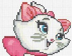 Resultado de imagem para gatinha marie em ponto cruz