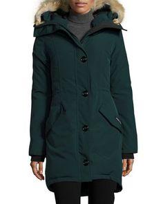 Canada Goose Rossclair Fur-Trim Hooded Down Parka