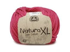 Dmc Natura Just Cotton XL Yarn, Red- 5 Online Craft Supplies Store shipping worldwide! Dmc Natura Xl, Dmc Embroidery Floss, Super Bulky Yarn, T Shirt Yarn, Chunky Yarn, Knitting Needles, Crochet Hooks, Fabric Crafts, Needlework