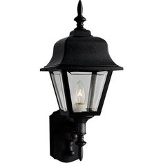 C197-P5656-31 By Progress Lighting-Polycarb-Coach Collection Black finish 1-100W Med Wall