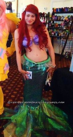 Coolest Ariel the Little Mermaid Halloween Costume ...This website is the Pinterest of birthday cakes