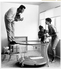 James Garner with his wife, Lois Clark, and daughters, Kimberly Clark and Gigi, 1958.