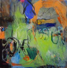 green prelude, Anna Hryniewicz, acrylic on canvas