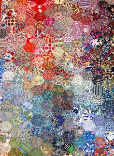 calico & ivy: our perth crochet diva.such wonderful inspiration from great folks! Liberty Quilt, Liberty Fabric, Quilting Designs, Quilting Projects, Hexagon Patchwork, Hexagon Quilt Pattern, Watercolor Quilt, Scrappy Quilts, Amish Quilts