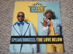 """Outkast / Speakerboxxx / Love Below / 2003 Arista Records Double Sided Promo Poster / 12"""" x 14"""" / Rap Hip-Hop"""
