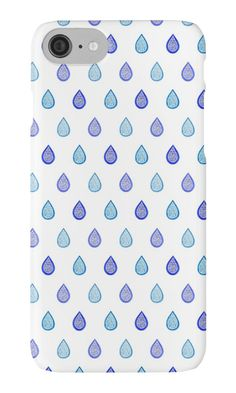 """Blue raindrops"" iPhone Cases & Skins by @savousepate on @redbubble #pattern #raindrops #drops #droplets #blue #turquoise #iphonecase #iphoneskin #phonecase #phoneskin"