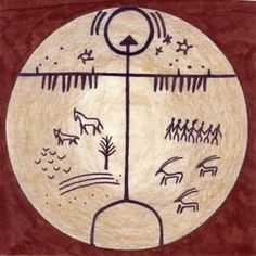 In ancient times, people in Central Asia practiced a religion known as Tengriism, which focused on living in harmony with the natural universe. Album Design, Native Art, Native American Art, Esoteric Symbols, Shaman Symbols, Rose Croix, Religion, Art Ancien, In Ancient Times