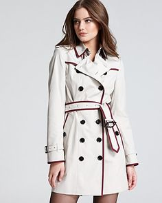 Burberry London Trench - Queensburry Double Breasted with Contrast Piping | Bloomingdale's