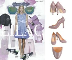 Prima Magazine May 2015 loves Lilac and so do we. Showing off our lovely wide fit stilettos in Lilac leather