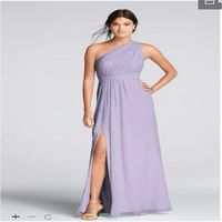2017 Long One-Shoulder Crinkle Chiffon Bridesmaid Dresses With High Slit Wedding Party F18055 Long Dresses