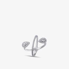 Luvente Diamond Pear Crossover Ring