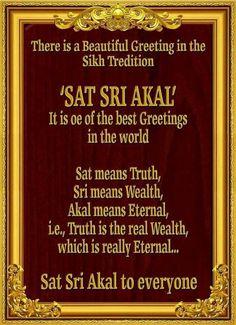 Sikh way of greeting . Sikh Quotes, Gurbani Quotes, Punjabi Quotes, Qoutes, Guru Granth Sahib Quotes, Sri Guru Granth Sahib, Sikhism Religion, Sikhism Beliefs, Guru Nanak Jayanti
