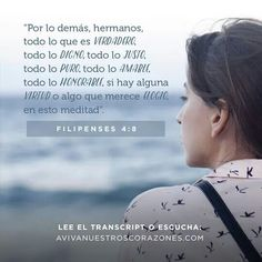 Filipenses 4:8 #AvivaNuestrosCorazones