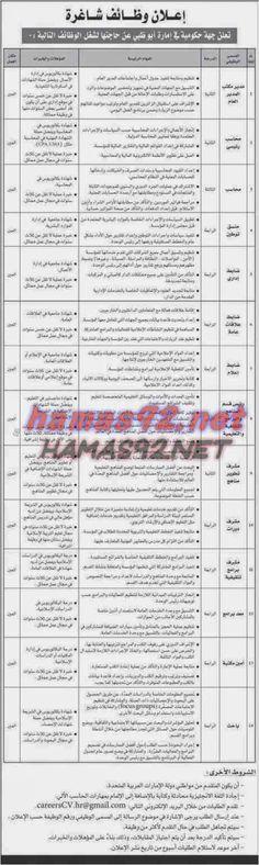 وظائف خالية مصرية وعربية: وظائف خالية من جريدة الاتحاد الامارات الاثنين 16-0...