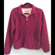 Barrage dark pink fleece jacket 🆑 Barrage dark pink purplish fleece jacket. Used but in good condition. Size Medium. 🆑 Final Clearance Price but still eligible for bundle discount George Jackets & Coats