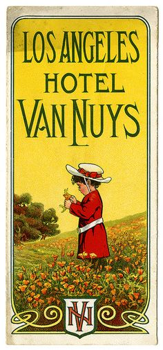 Advertisement, Hotel Van Nuys, Los Angeles [cover] | Flickr - Photo Sharing!