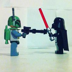 Boba Fett vs. Darth Vader.  #instastarwars #legophotography #starwarsphotography #starwars #legostagram #lego #instastarwars #legostarwars #legostarwarsminifigures #legostarwarscentral #bobafett #legobobafett #darthvader #legodarthvader by thedarksidecf28